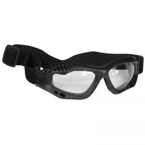 Mil-Tec Commando Air Pro Schutzbrille Gläser Transparent Gestell Schwarz
