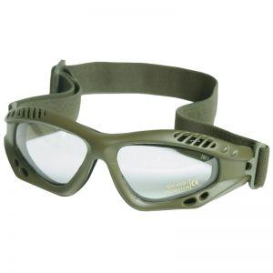 Mil-Tec Commando Air Pro Schutzbrille Gläser Transparent Gestell Oliv