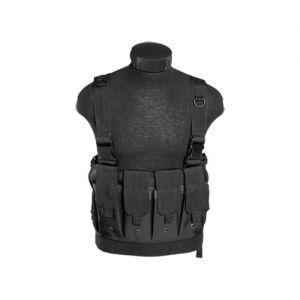 Mil-Tec Einsatzweste mit Magazintaschen Schwarz