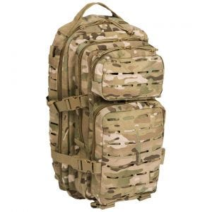 Mil-Tec US Assault Pack Laser Cut Small Einsatzrucksack Multitarn