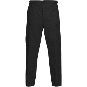 Propper BDU Hose mit Knopfverschluss aus Baumwoll-Polyester-Ripstop Schwarz
