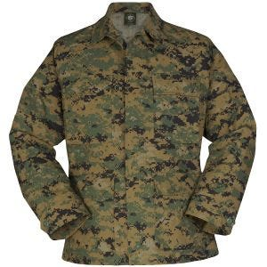 Propper Uniform BDU-Jacke aus Baumwoll-Polyester-Ripstop Digital Woodland