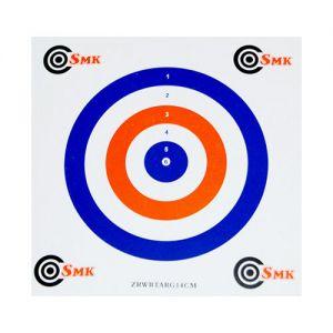 SMK 14 cm Papier-Zielscheiben Rot Weiß Blau (100 Stück)