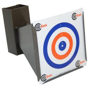 SMK Trumpet Trichterförmiger Zielscheibenhalter mit Kugelfang 14 x 14 cm