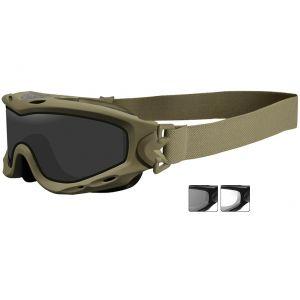 Wiley X Spear Schutzbrille - Gläser in Smoke Grey + Transparent / Gestell in Tan