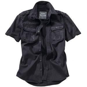 Surplus Raw Kurzarmshirt im Vintage-Stil Schwarz
