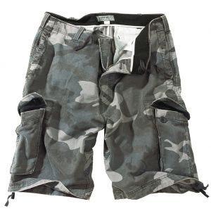 Surplus Vintage Shorts Ausgewaschenes Night Camo