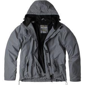 Surplus Windbreaker-Jacke mit Reißverschluss Grau
