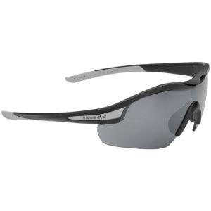 Swiss Eye Novena Sonnenbrille mit 3 Paar Wechselgläsern / Gestell in Mattschwarz-Grau