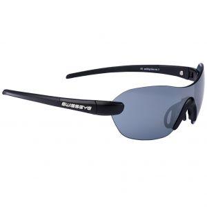 Swiss Eye Horizon Sonnenbrille mit Gestell in Mattschwarz/Schwarz