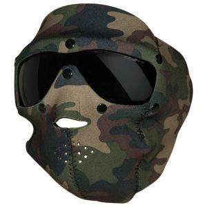 Swiss Eye Neopren-Gesichtsmaske mit integrierter Schutzbrille Woodland