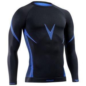 Tervel Optiline Langarm-Shirt Schwarz / Blau