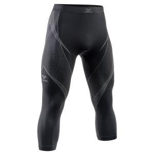 Tervel Optiline Lange Unterhose mit 3/4-Beinen Schwarz / Grau