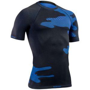 Tervel Optiline Light Kurzarm-Shirt Schwarz / Blau