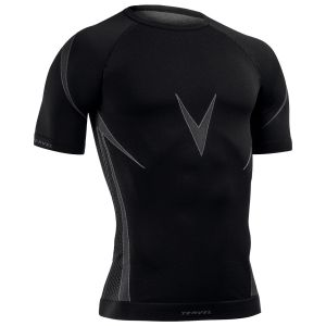 Tervel Optiline Kurzarm-Shirt Schwarz / Grau