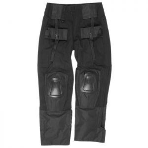 Mil-Tec Warrior Hose mit Knieschutz Schwarz