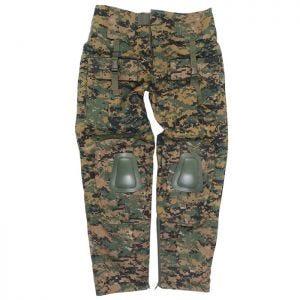 Mil-Tec Warrior Hose mit Knieschutz Digital Woodland