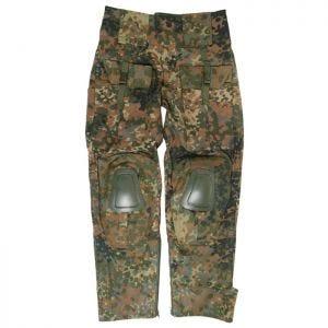 Mil-Tec Warrior Hose mit Knieschutz Flecktarn