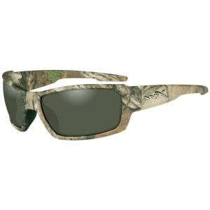 Wiley X WX Rebel Glasses - Polarized Grün Lens / Realtree Xtra Camo Frame
