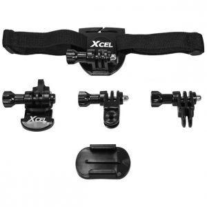 Xcel Helm-Set für Action-Cams Schwarz